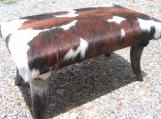 LARGE Cowhide Horn Leg Footstool 0181