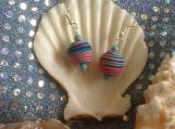 Multi color clay dangle handmade earrings