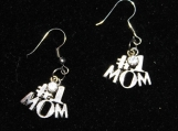 Pair of #1 mom silver earrings with faux diamond / mother day gift earrings / #1 mom diamond earrings / faux diamond earrings/ mom earrings