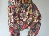 Flora soft cotton baggy unisex harem pants, perfect of yoga,Low Crotch Yoga Trousers gypsy pants,aladdin pants maxi pants boho pants (FH001)
