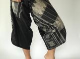 SR0035 Samurai pants with Unique Hilltribe fabric Wrap Around