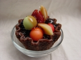 Chocolate Waffle Fruit Cup