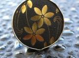 Japanese Flower Ring (Black)