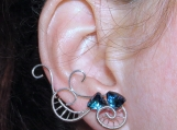 Calling of the Sea earrings, Ear climber, waves earrings