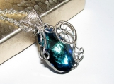 Calling of the Sea elven pendant, swarovski pendant, water