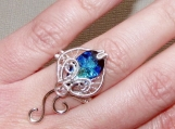 Calling of the Sea ring, stingray ring, wire ring