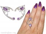 Lavender Elf Ears, elven ears, Elven Wedding, elf costume