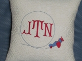 Monogrammed Airplane Pillow