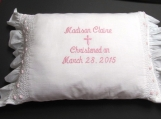 Personalized Christening Pillow