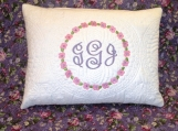 Personalized floral monogrammed pillow