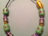 Wooden & Silver Bead FAITH Bracelet
