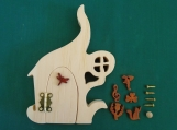 Fairy Door kit, Opening Fairy Door, Paint your own fairy door, Garden Decoration, DIY fairy door, Project for kids