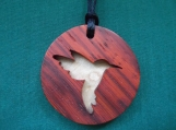 Hummingbird Necklace, Bird Jewelry, Nature Pendant, Native American jewelry, Handcrafted pendant