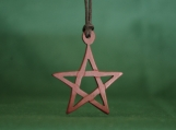 Pentacle Necklace, Wiccan Jewelry, Mother Earth Pendant, Pentagram Amulet, Charm Necklace