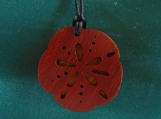 Sand Dollar Necklace,  Ocean inspired Jewelry, Nature Pendant, Handcrafted pendant made of canarywood and padauk