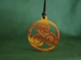 Celtic Triskele Jewelry, Celtic Spiral Pendant, Exotic Wood Necklace, Scottish Jewelry, Irish Pendant, Handmade Gift
