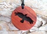 Crow Necklace, Spirit Animal Jewelry, Crow Pendant, Native American jewelry, Black Bird, Handcrafted pendant