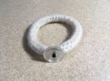 Felted wool knit bracelet