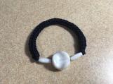 Hand knit  navy bracelet
