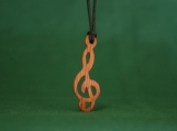 Treble Clef Necklace, Treble Clef Music Jewelry, Musical Pendant, Music Teacher's Gift, Handcrafted gift