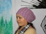 Angora hand knitted Cap