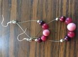 Assorted Pink Gemstone Earrings