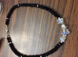 Genuine Opal and Black Spinal Choker