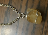 Raw Citrine and Sterling Silver Pendant