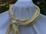 Yellow Infinity Yarn Scarf