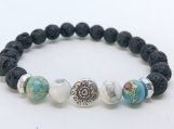 Aromatherapy Diffuser Bracelet with Turquoise and White Howlite