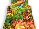 Dinosaur Sunrise Baby Pocket Pinafore Dress