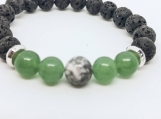 Essential Oil Diffusing Lava, Jade and White Howlite
