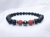 Essential Oil Diffusing Lava, Red Jasper and Magnetic Hematite