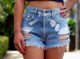 High waisted denim shorts Levis distressed shorts by Jeansonly