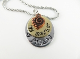 Mini hand stamped - my mother my friend - necklace