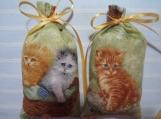 """Kittens 5""""X2"""" Sachet-'Heaven Scent' Fragrance-Cindy's Loft-425"""