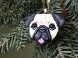 Pug puppy ~ Handmade Polymer Clay Ornament