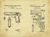 Browning Pistol Patent Art Duo-U.S. Shipping Included