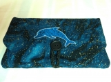 Dolphin Fabric Clutch/Tablet/Reader Case for iPad Mini, Kindle