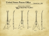Gibson Trio Patent Art-U.S. Shipping Included