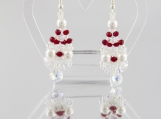 Grapes earrings with Swarovski  bicones