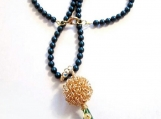 Jade Teardrop Necklace, Wire Wrapped Necklace, Swirl Design