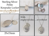 Personalized Sterling Silver Locket, Locket Necklace, Heirloom