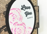 Pink Roses Love You Always Card