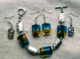 set 2 pairs earrings & bracelet (A)