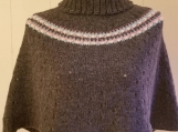 shoulder cozy, worsted weight 100%, subtle eyelet