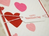 Valentine Hearts Hand Made Greeting Card