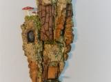 Whimsical Bark Carved House