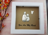 You are My Rock Pebble Art Picture in Box Frame Great Gift Idea