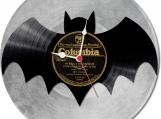 Batman 2 handmade vintage vinyl design clock